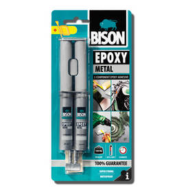 BISON EPOXY METALLI 2-KOMPONENTTI 24ml - Liimat ja Massat - 8710439153100 - 1