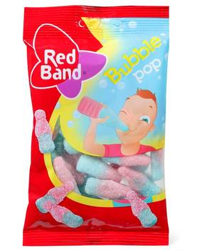 RED BAND KIRPEÄ PULLO BUBBLE POP 100g - Karkkipussit - 8013399146312 - 1