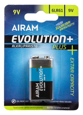 AIRAM EVOLUTIONPLUS 6LR 9V - Paristot - 6435200194763 - 1