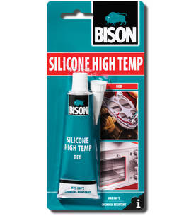 SILIKONI BISON HIGH TEMP 60ml - Liimat ja massat - 8710439101163 - 1