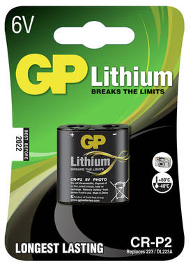 LITHIUMPARISTO GP 6V CR-P2 DL223 LITHIUM - Paristot - 4891199001093 - 1