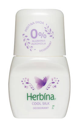 HERBINA ROLL ON SILKKI ALUMIINITON 50ml - Kemikalio - 6414504786515 - 1