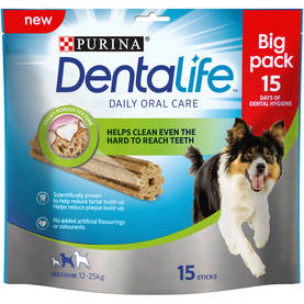 PURINA DENTALIFE MEDIUM BIG PACK 345g - Eläinruoka koirille - 7613035379855 - 1