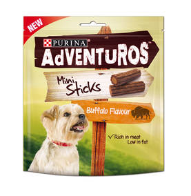 AdVENTuROS MINI STICKS BUFFALO 90g - Eläinruoka koirille - 7613034916686 - 1