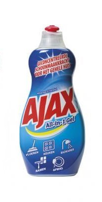 AJAX ALL IN ONE GEELI RAIKAS 500ml - Muut Pesuaineet - 8714789969077 - 1
