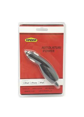 AUTOLATURI iPHONE/iPOD/iPAD 12-24V 1m - Yleis autotarvikkeet - 6438168095998 - 1