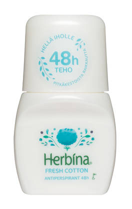 HERBINA ROLL ON 48h FRESH COTTON 50ml - Kemikalio - 6414504786478 - 1