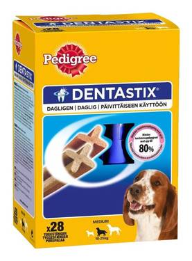 PEDIGREE LUU DENTASTIX MEDIUM 4x180g - Koiranruoka - 5998749107898 - 1
